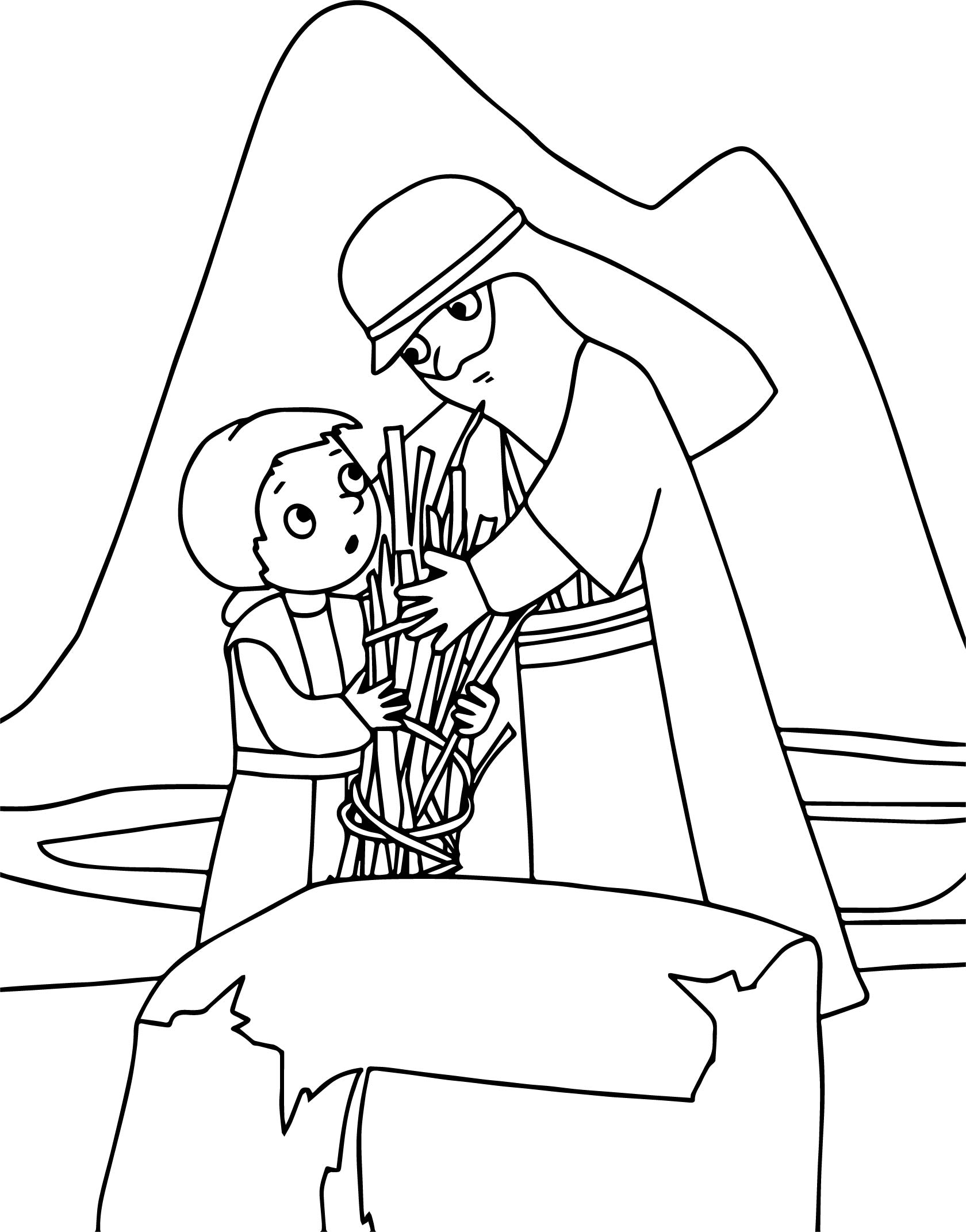 abraham and sarah coloring pages - abraham and sarah wood coloring page