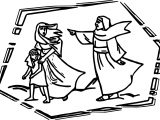 Abraham And Woman Going Here Desert Sarah Coloring Page