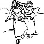 Abraham And Womang Waking On Desert Sarah Coloring Page