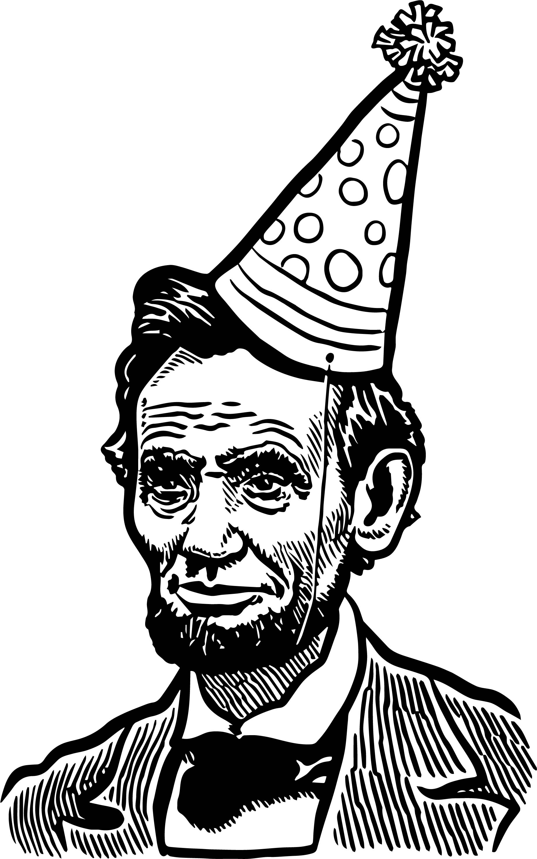 Abraham Lincoln President Celebration Coloring Page ...
