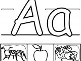 Academic Letters Alphabet A Coloring Page