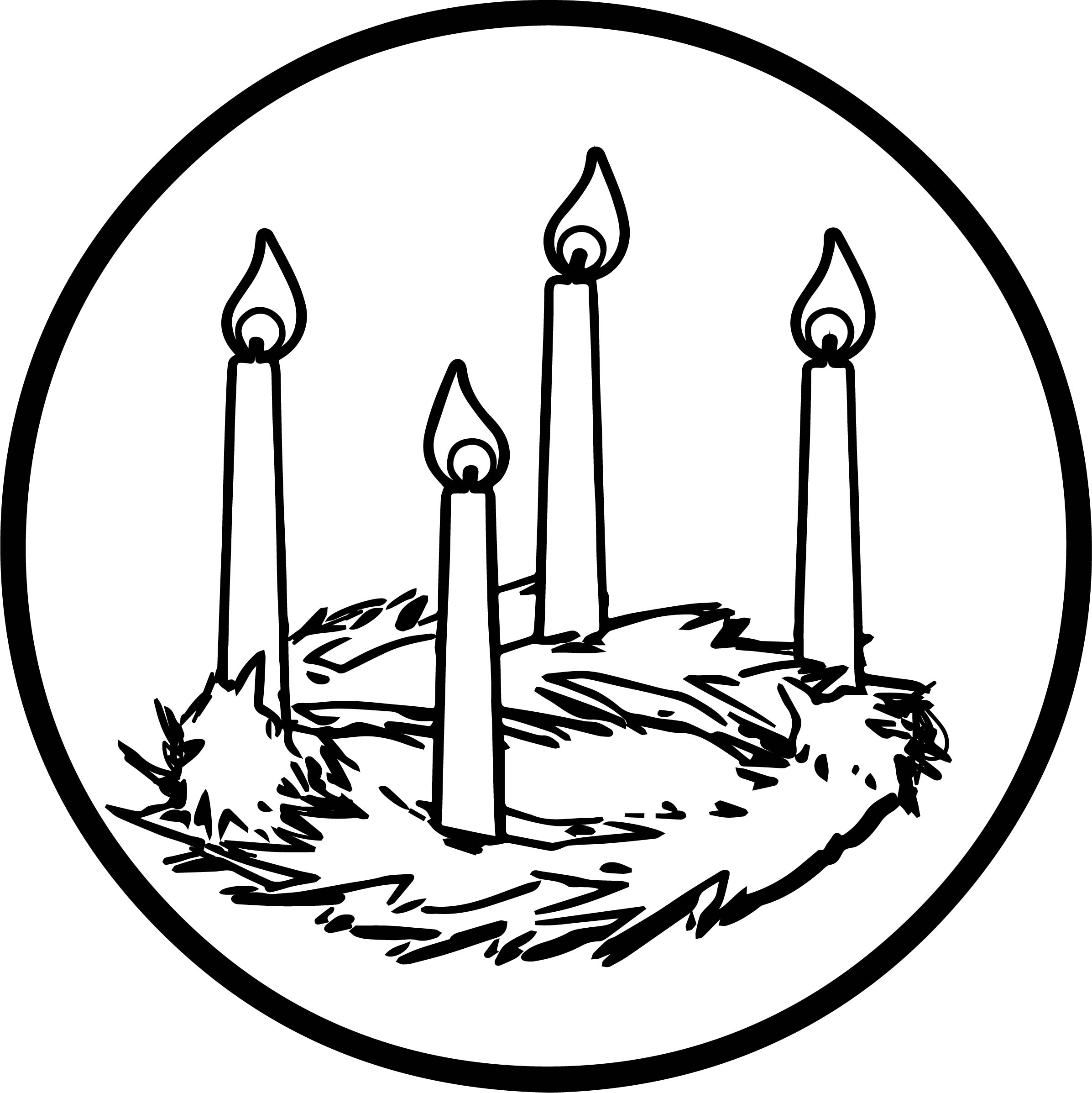 Advent Candle Coloring Page