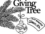Advent Giving Tree coloring page
