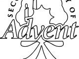 Advent Text Coloring Page