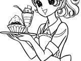 Aeromachia Service Girl Waiter Coloring Page