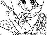 Aeromachia Shojo Manga No Memory Painter Girl Coloring Page