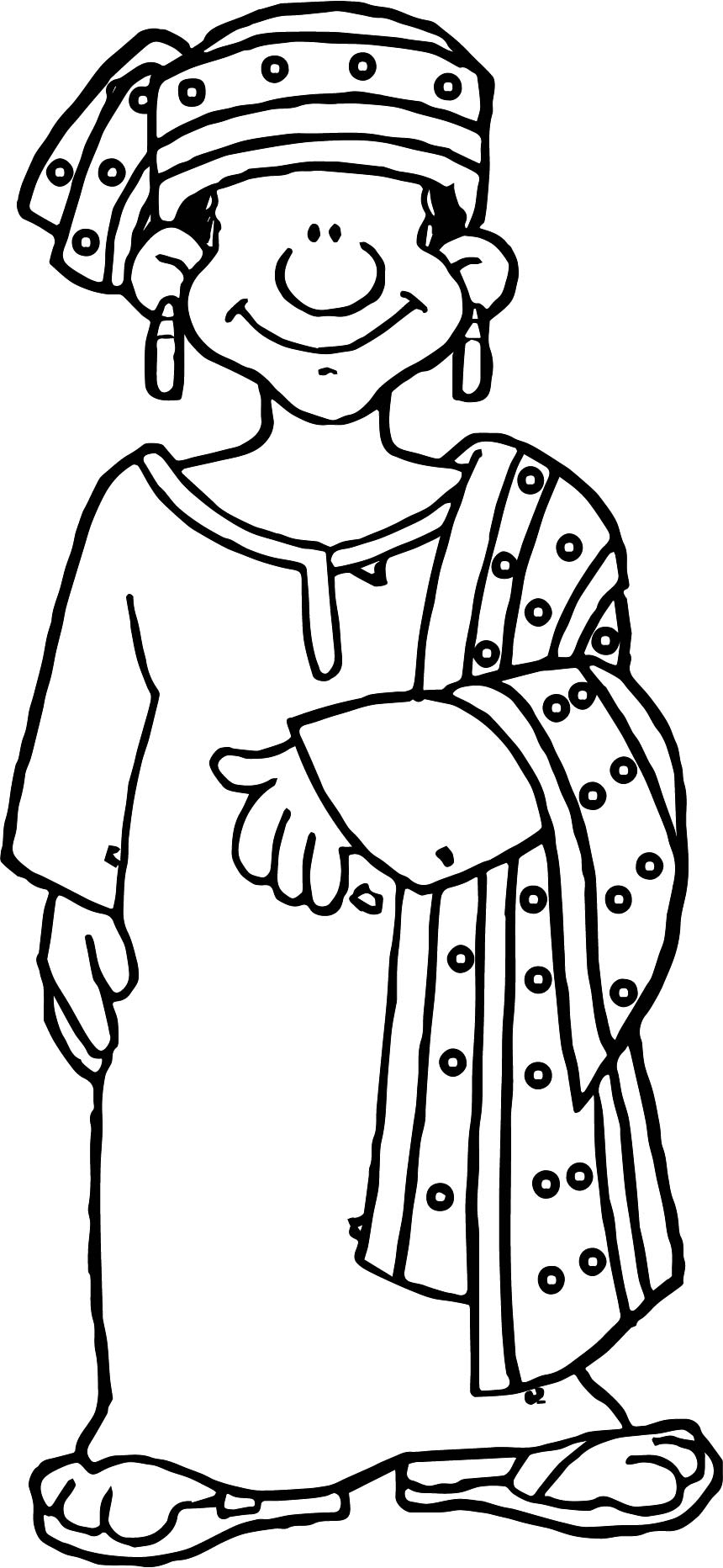 africa nigeria woman coloring page