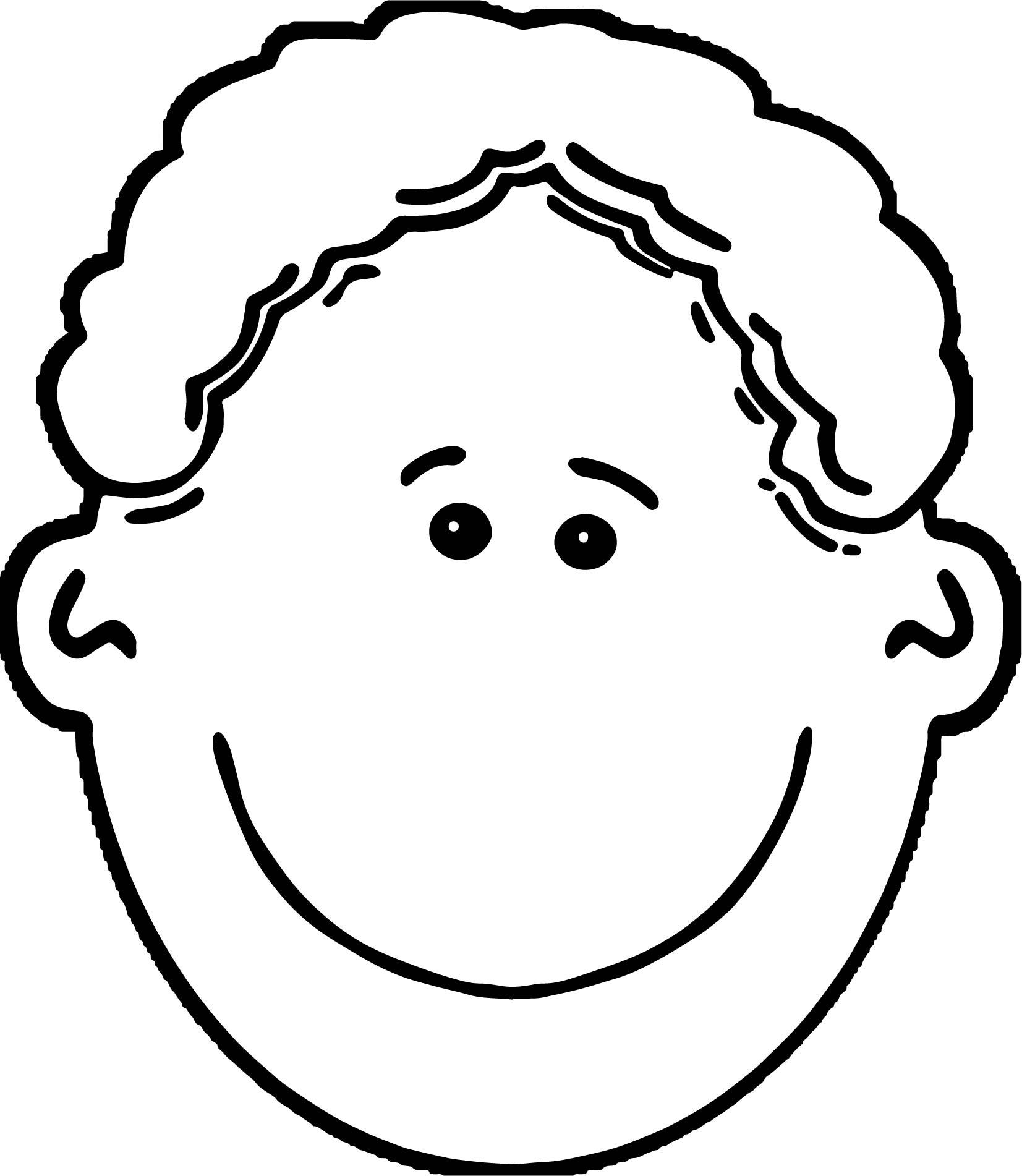 Uncategorized Face Coloring Pages african american boy face coloring page wecoloringpage page