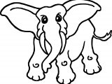 African Animals Elephant Coloring Page