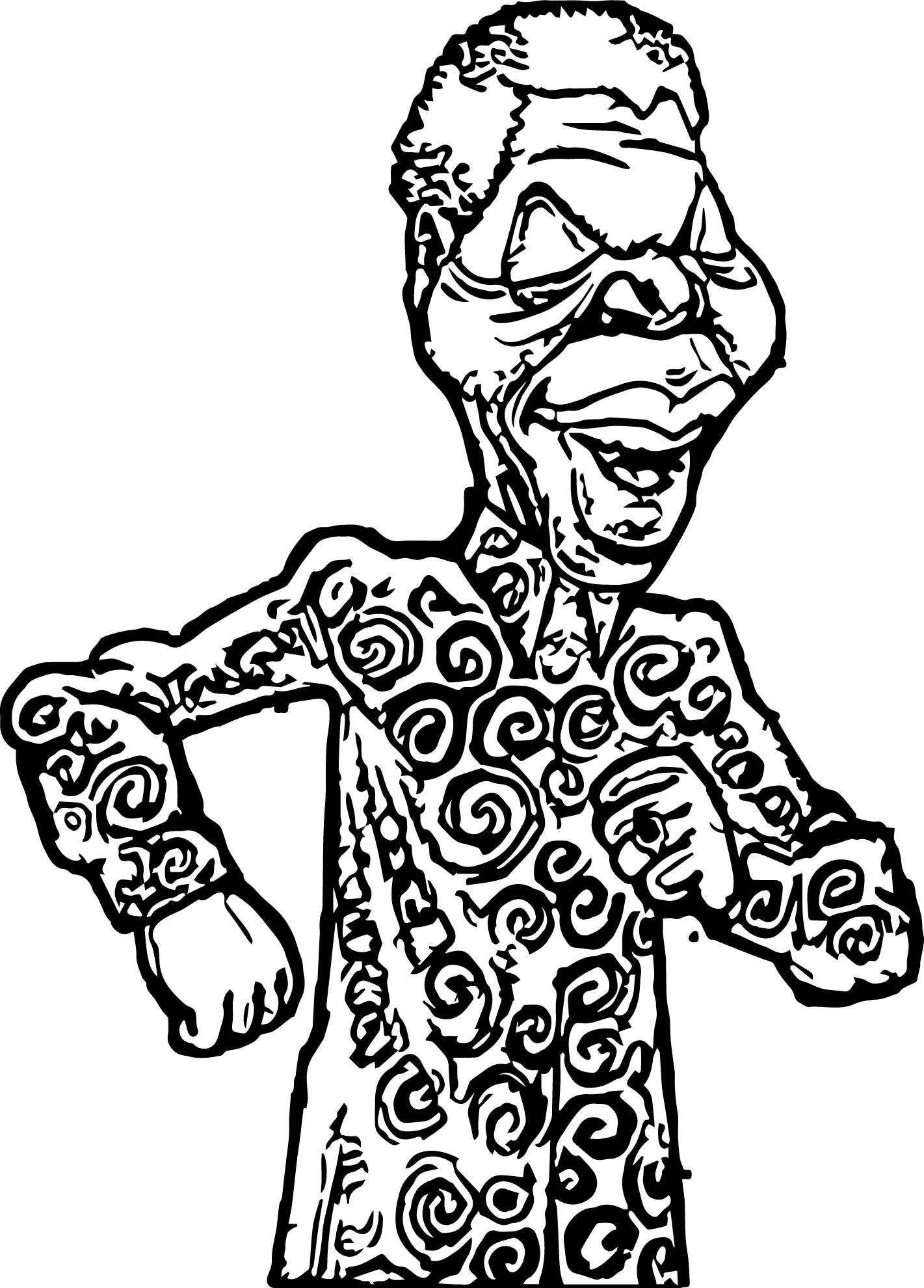 African Man Coloring Page