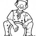 African Music Coloring Page