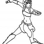 Ahsoka Tano Blade Action Coloring Page