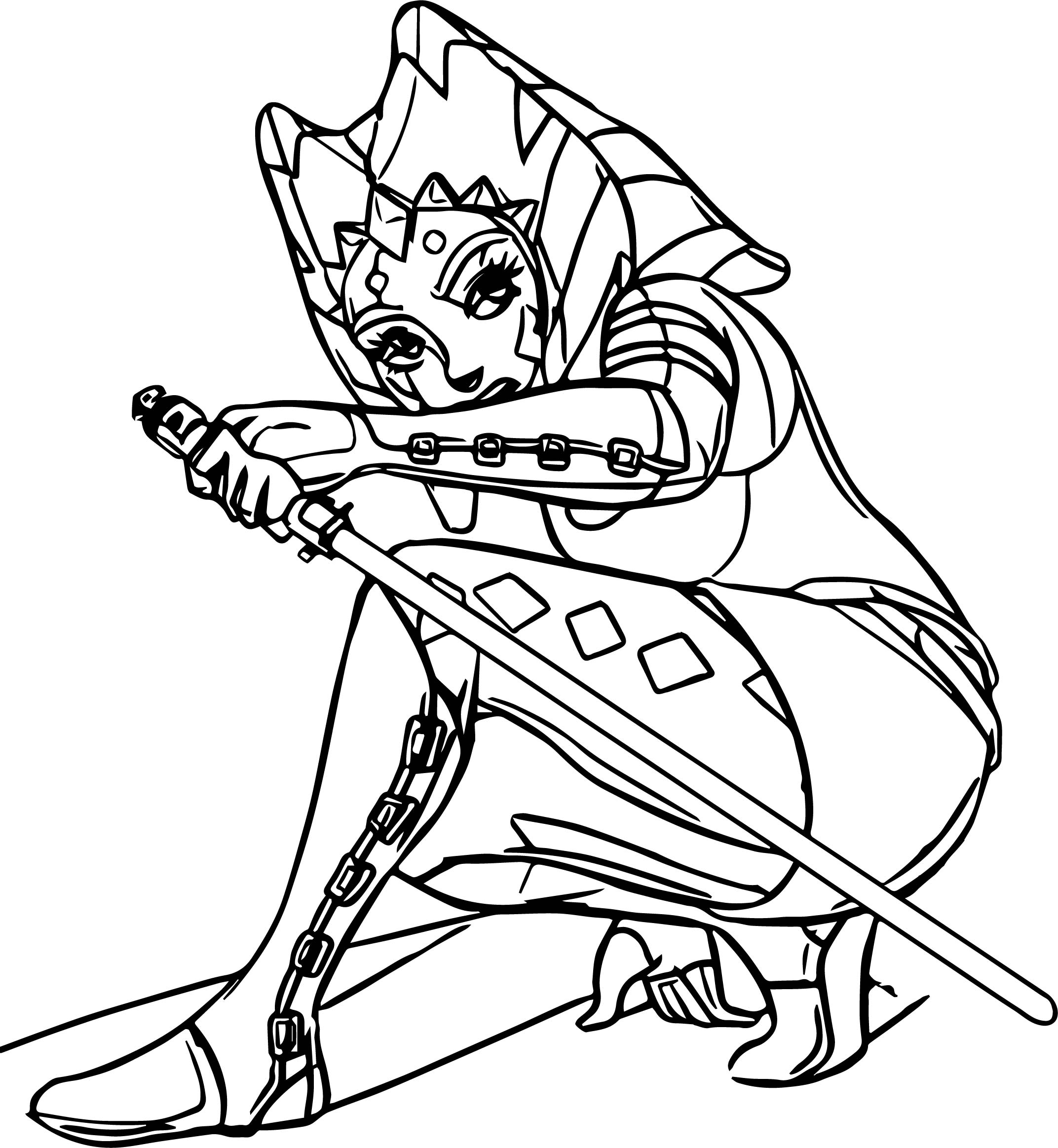 Ahsoka Tano Guard Coloring Page