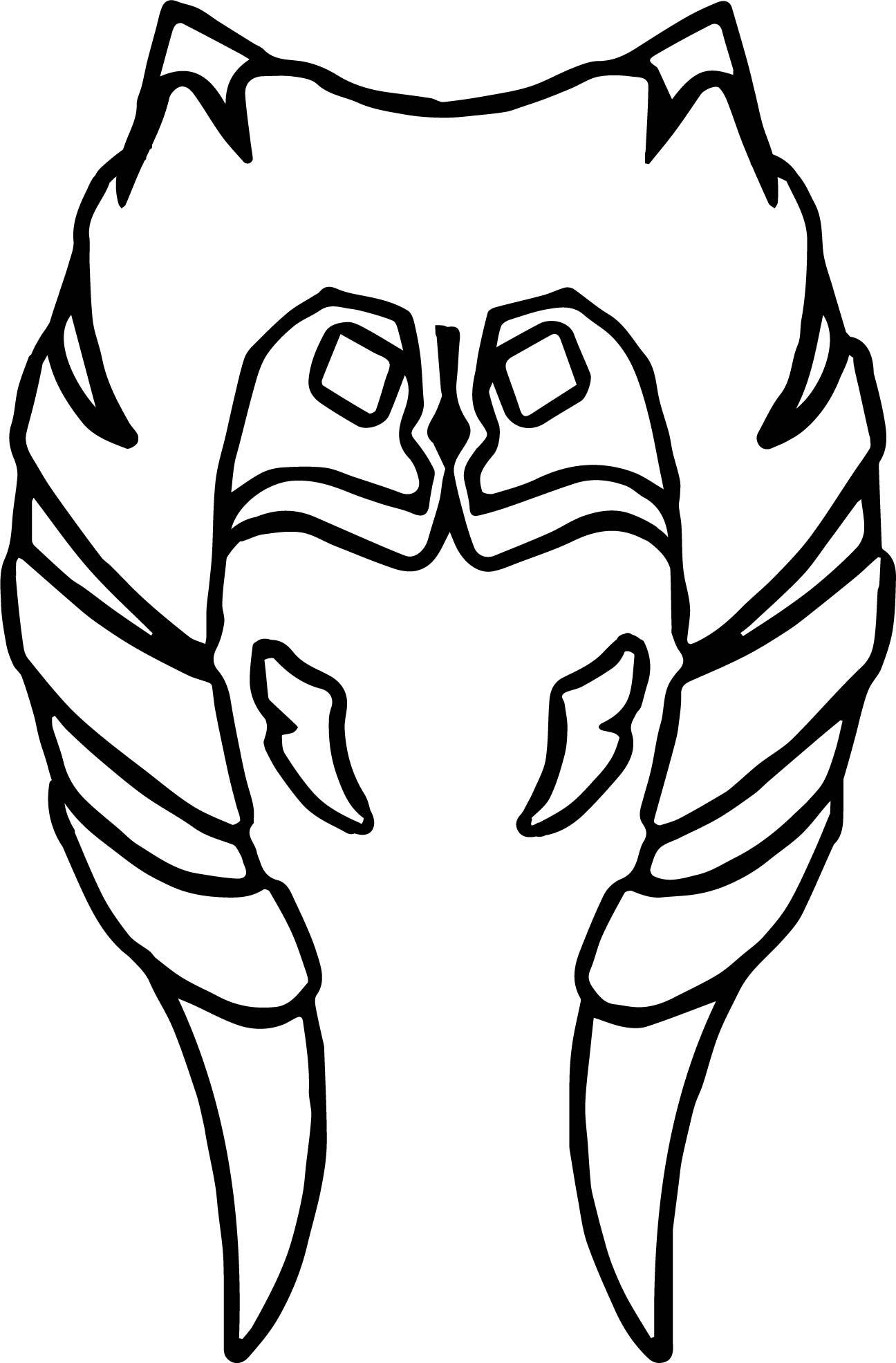 Ahsoka Tano Head Guard Coloring Page