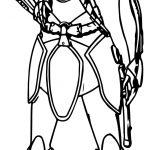 Ahsoka Tano Soldier Coloring Page
