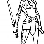Ahsoka Tano Waiting Coloring Page