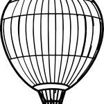 Air Balloon Big Coloring Page