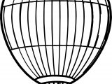 Air Balloon Big Coloring Page