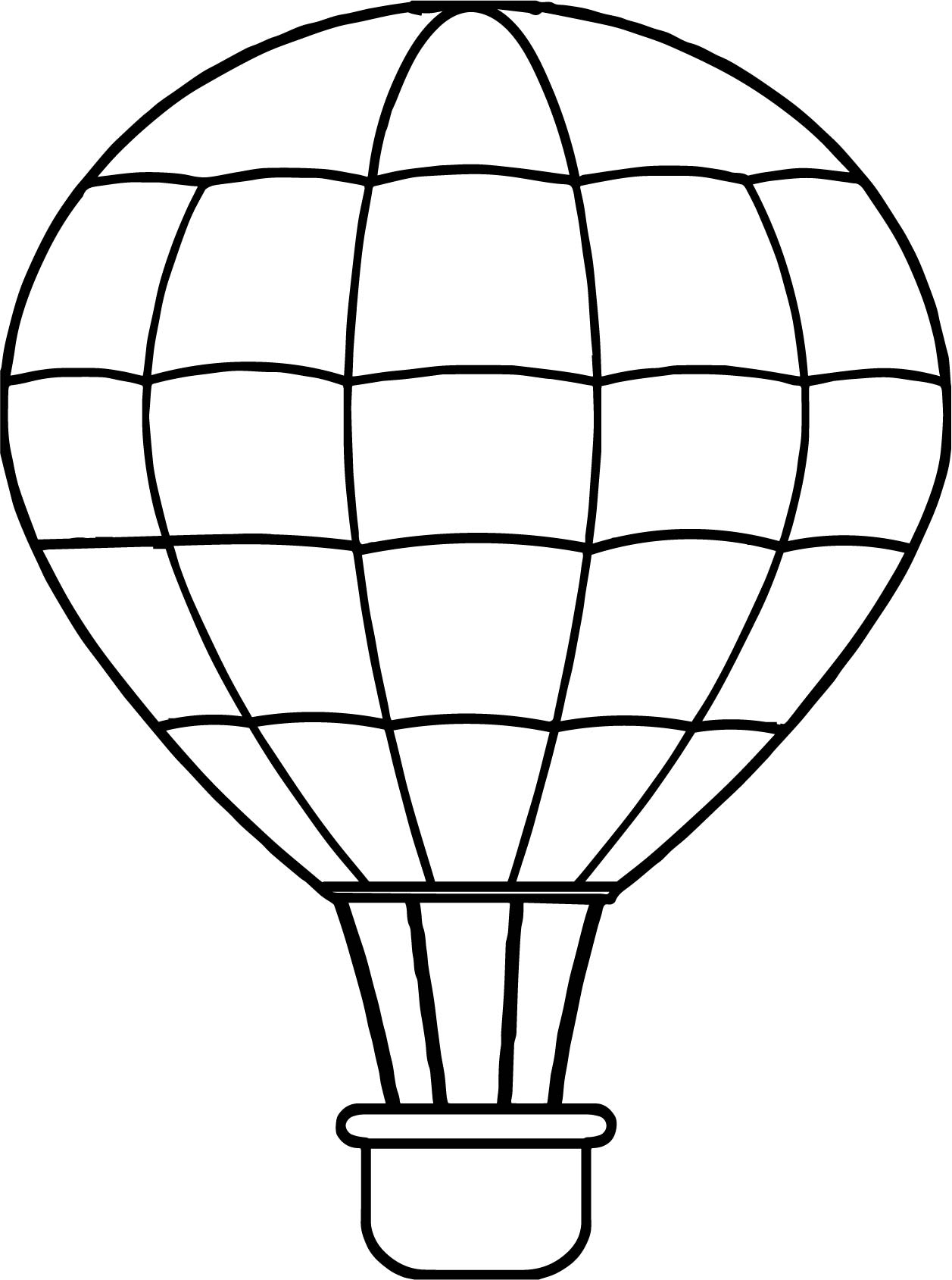 Air Balloon Line Coloring Page