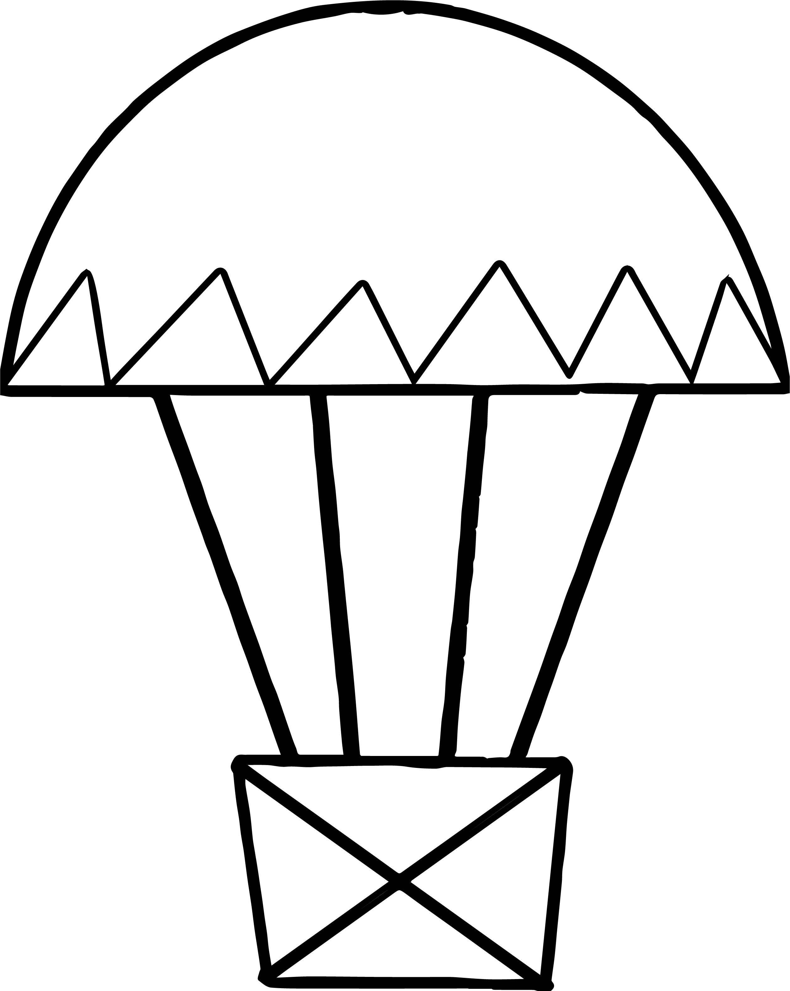 Air Balloon Small Coloring Page