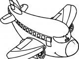 Airplane Cartoon Coloring Page