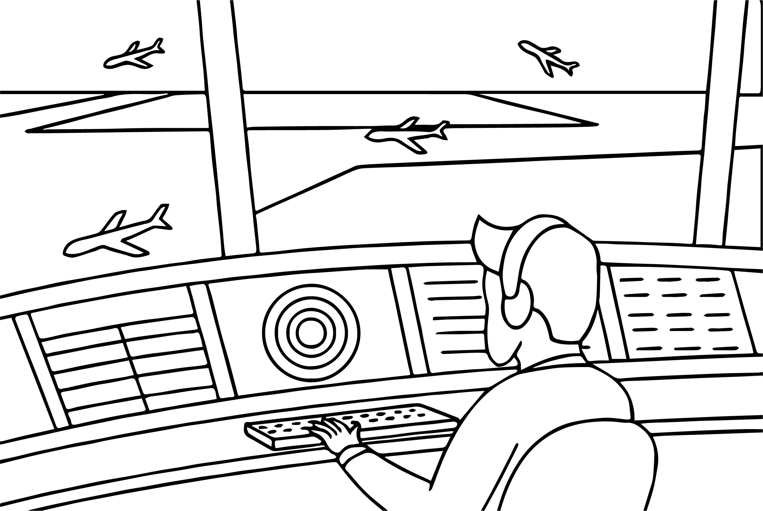 airplane cockpit coloring page wecoloringpage
