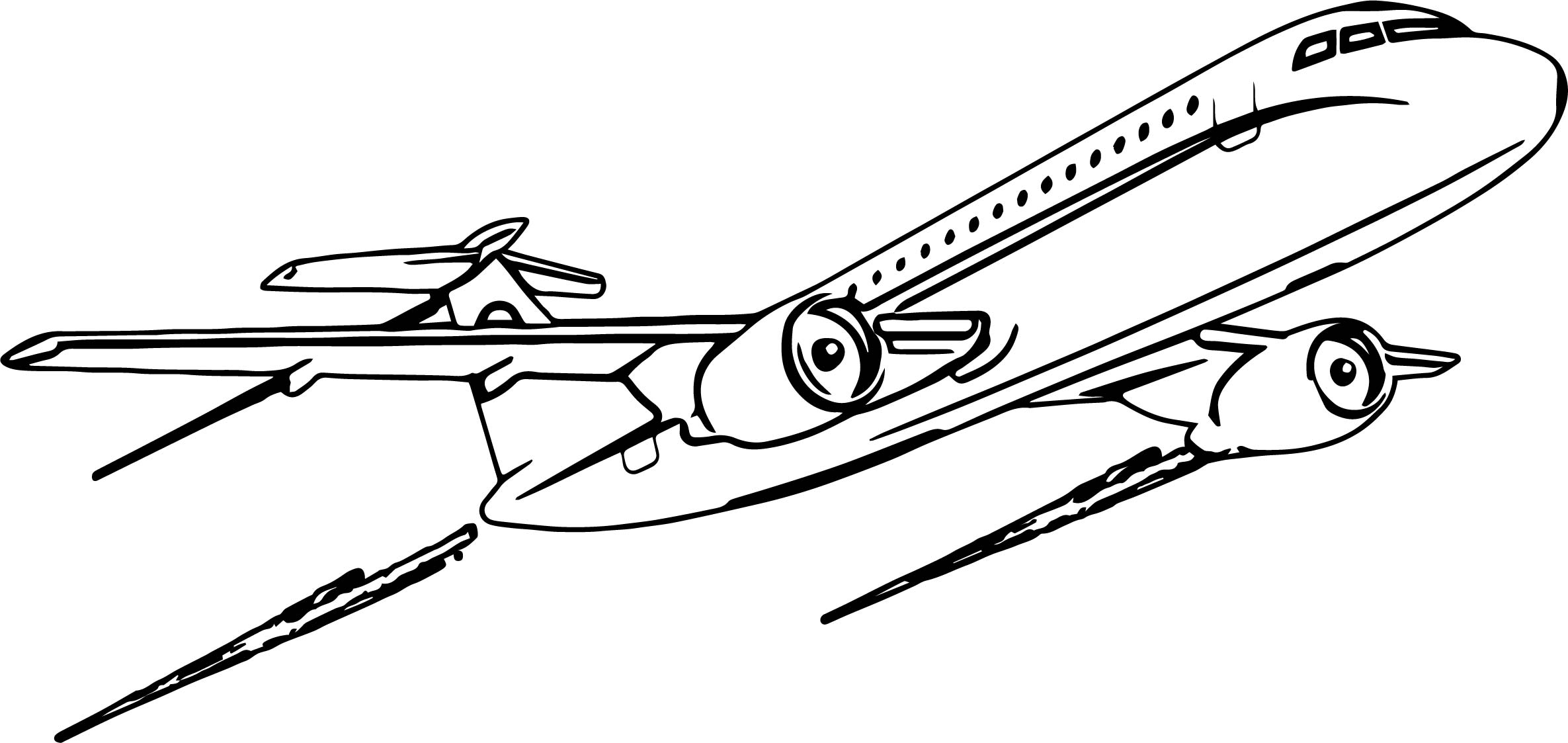 Airplane Departure Coloring Page