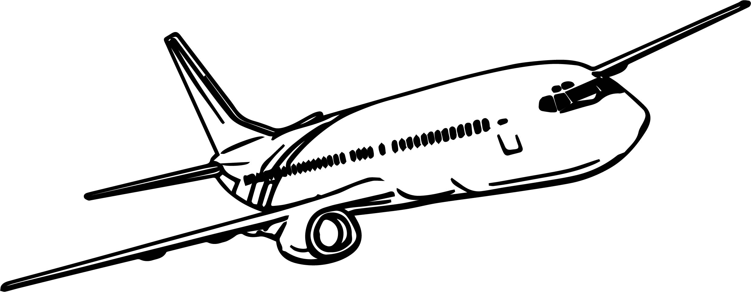 Airplane Fly Coloring Page