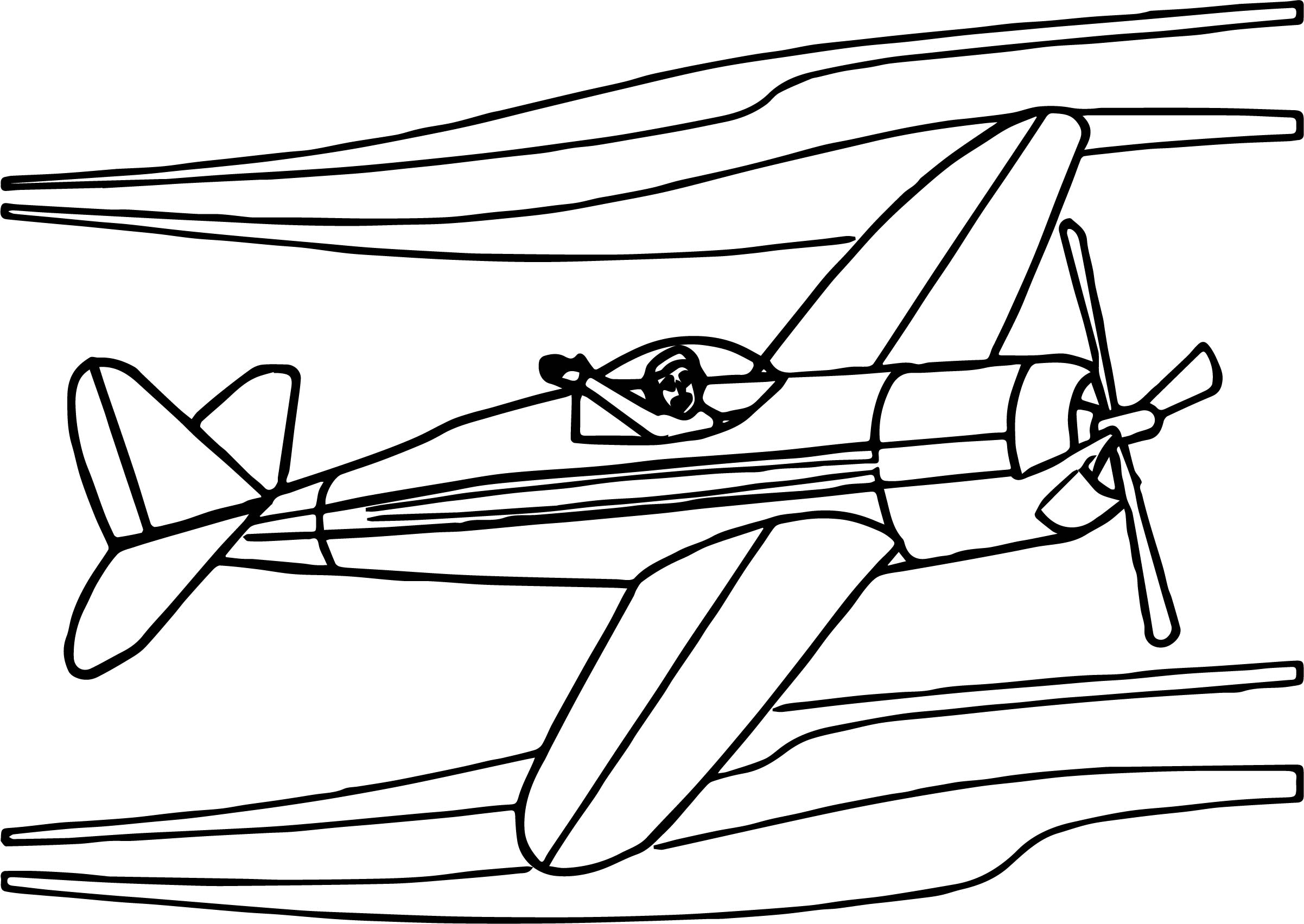 Airplane Human Coloring Page