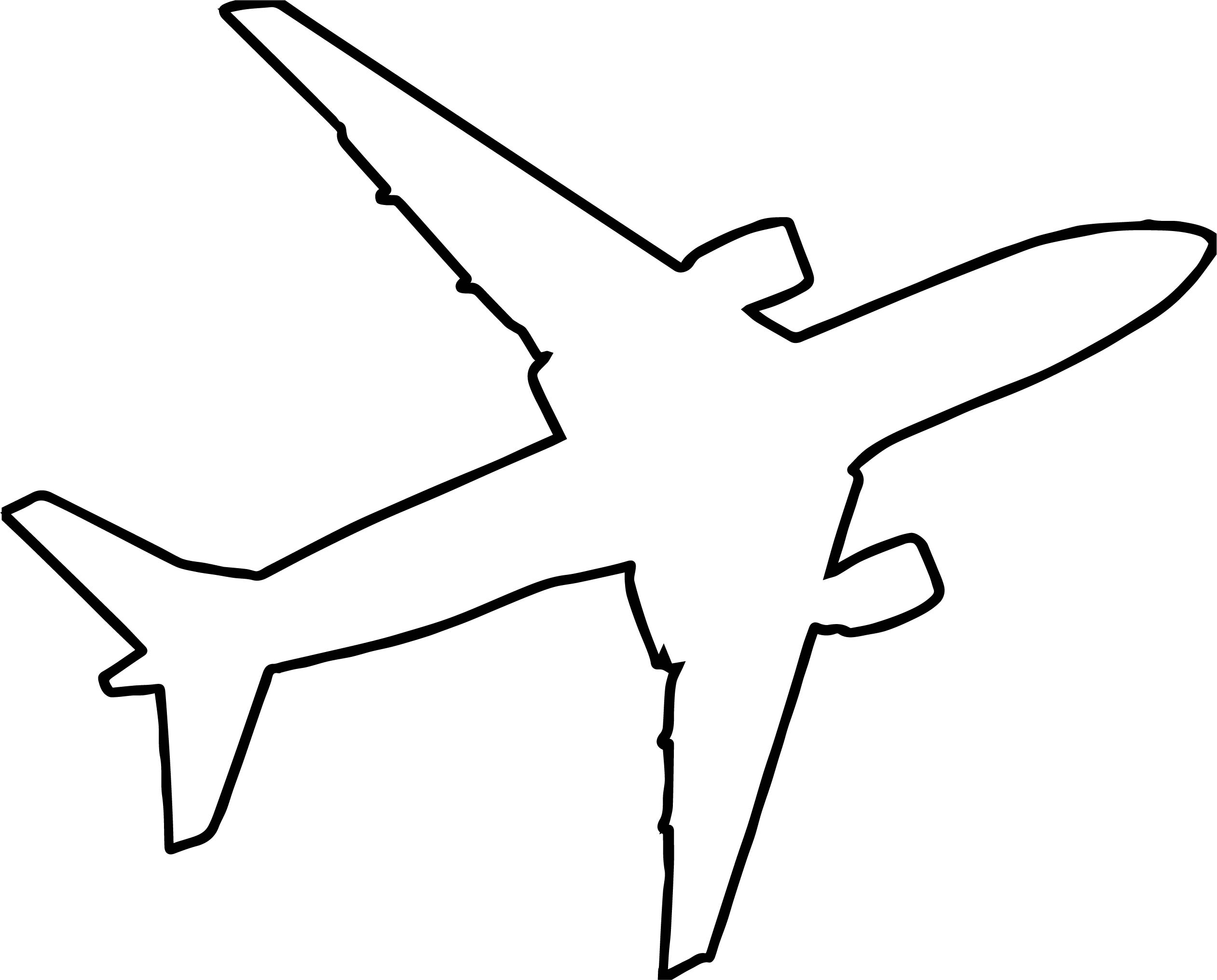 airplane outline silhouette coloring page wecoloringpage