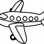 Airplane Small Coloring Page