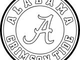 alabama crimson circle logo coloring page