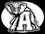 Alabama Crimson Tide Football Logo Coloring Page