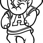 Alabama Elephant Walking Coloring Page