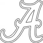 Alabama University Of Alabama A Text Coloring Page