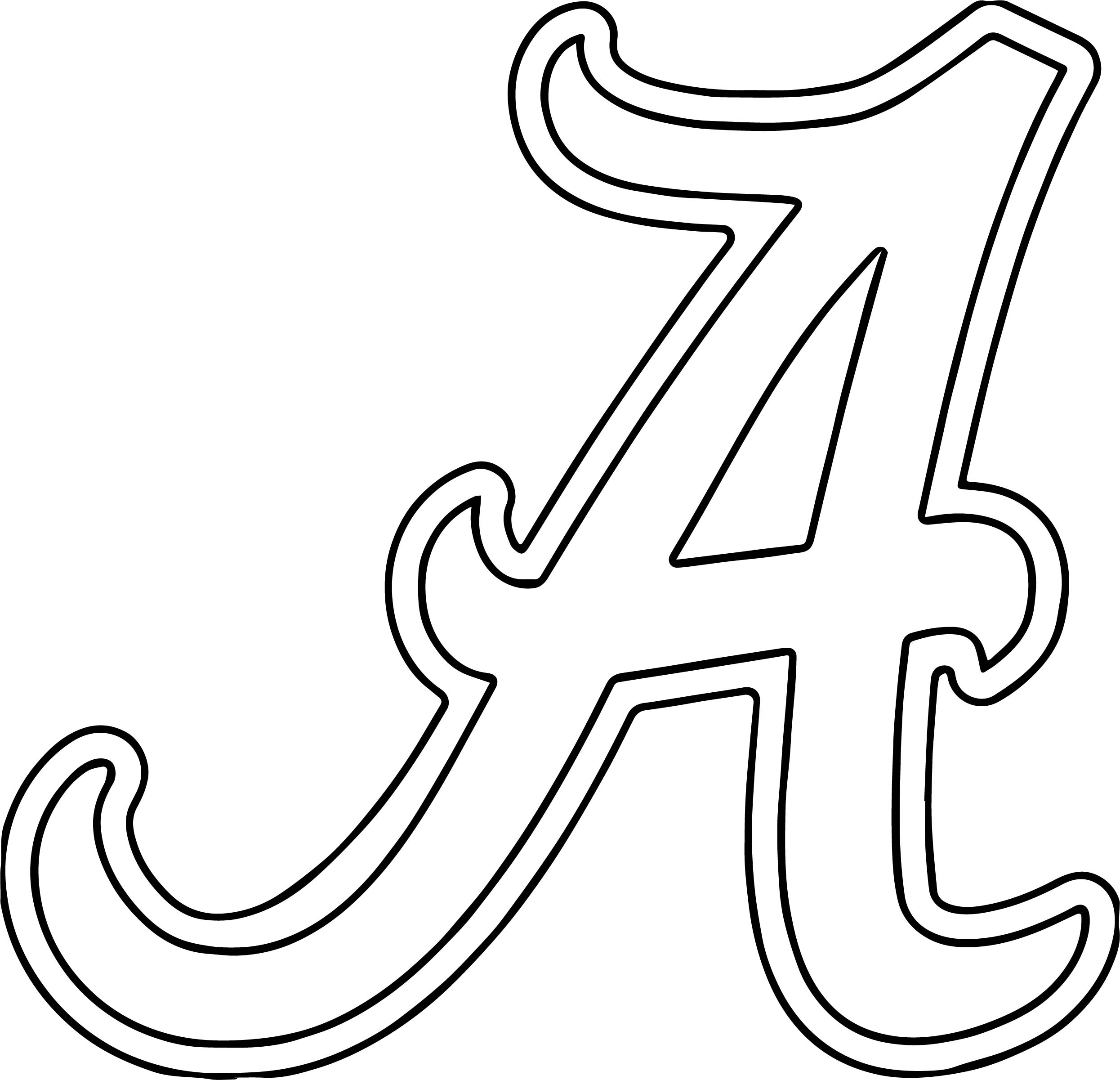 Alabama University Of Alabama A Text Coloring Page also with alabama football coloring pages wecoloringpage on free alabama football coloring pages including university of alabama football coloring pages university coloring on free alabama football coloring pages moreover auburn tigers college football coloring pages 01 800 600 on free alabama football coloring pages including alabama a template alabama football a text outline coloring page on free alabama football coloring pages