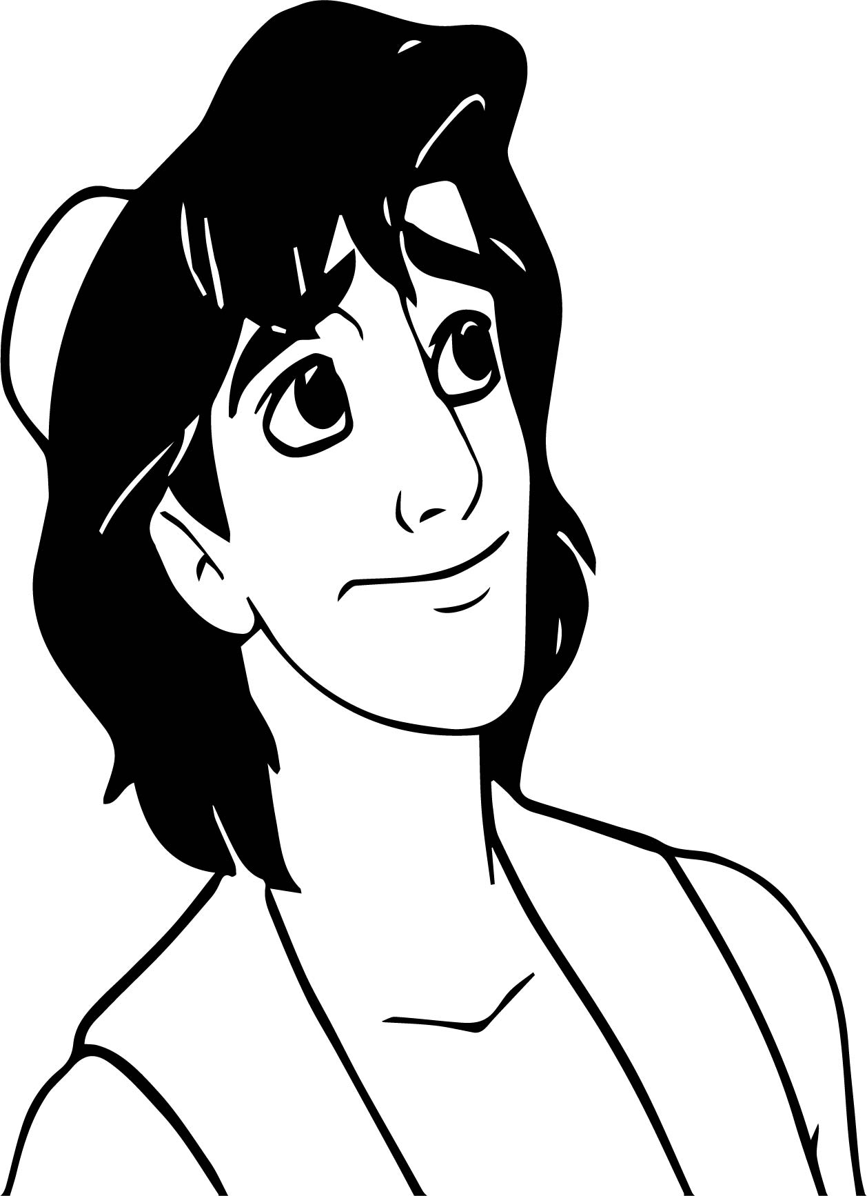 Aladdin Charm Coloring Page
