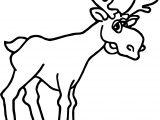Alaska Moose Coloring Page