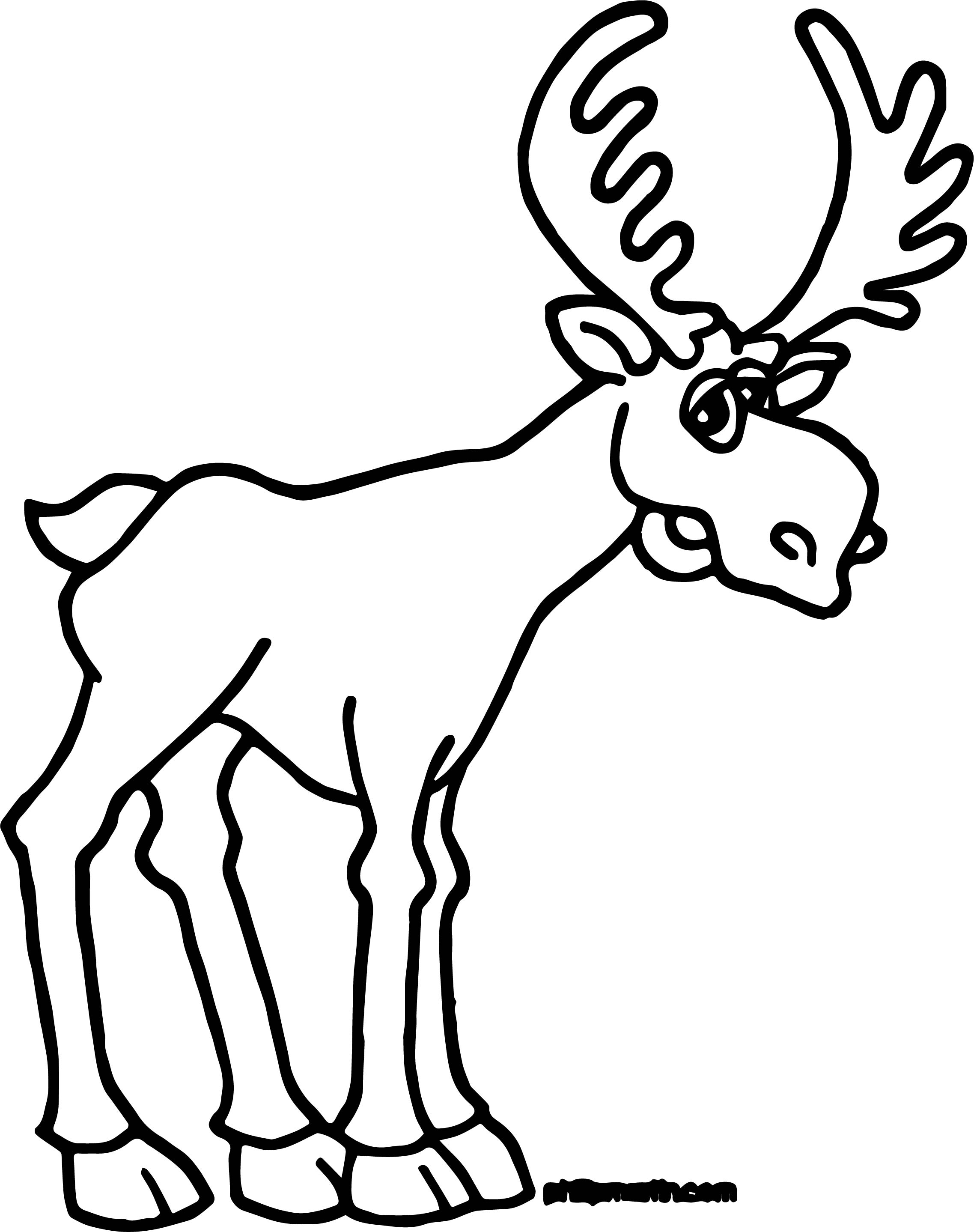coloring pages moose - alaska moose coloring page