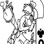 Alice In The Wonderland Joker Coloring Page