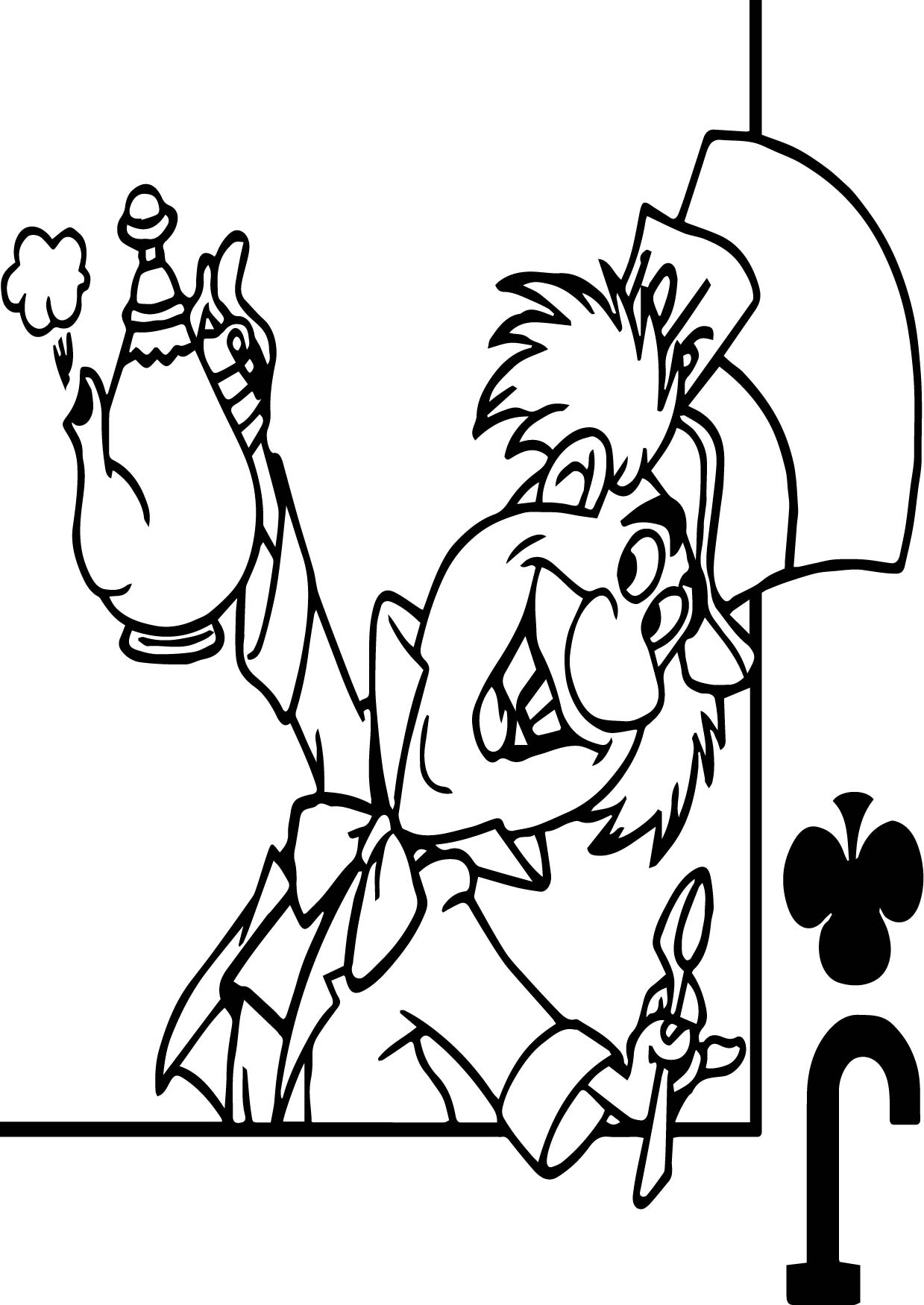 alice in the wonderland joker coloring page wecoloringpage