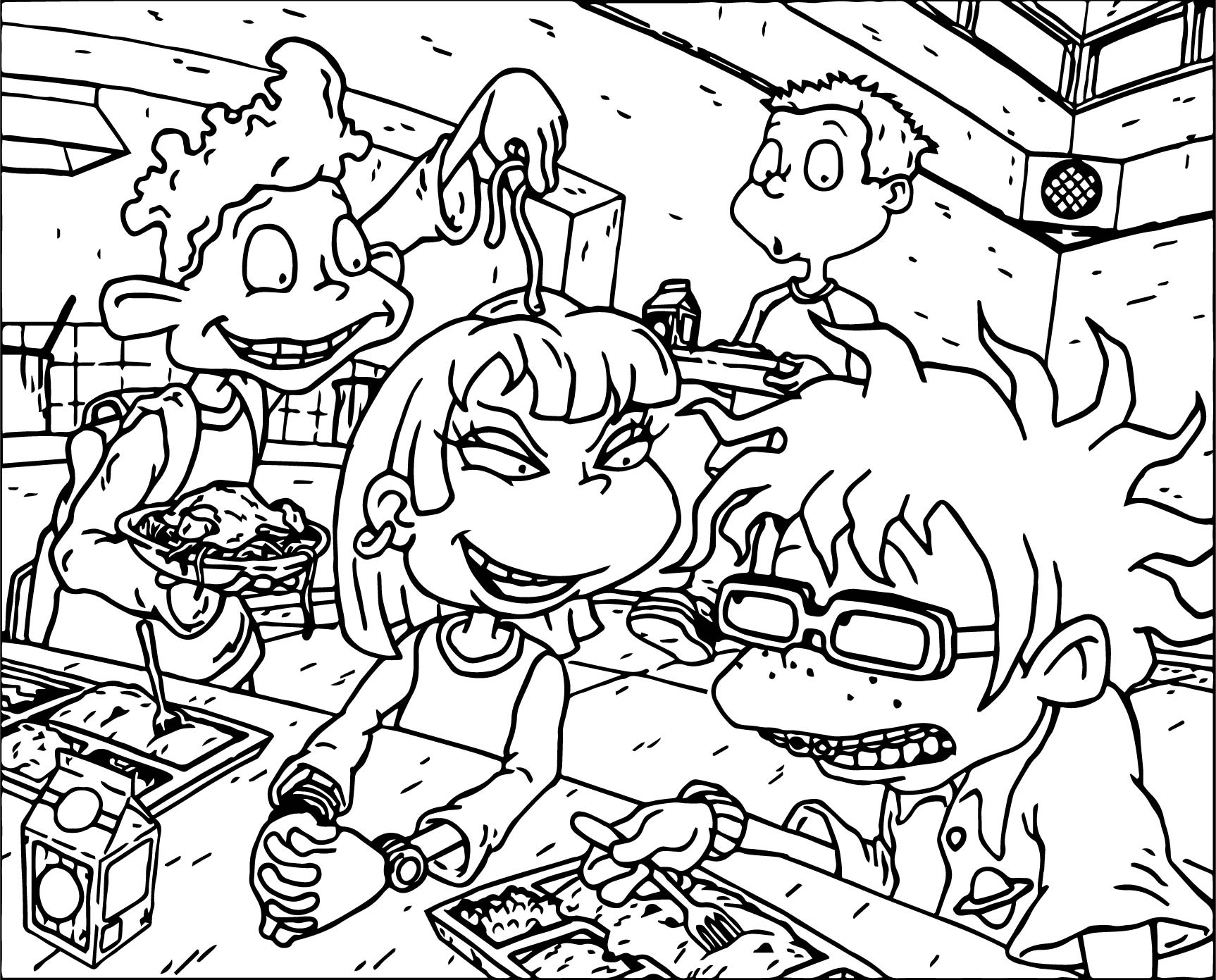 All Grown Up Macaroni Coloring Page