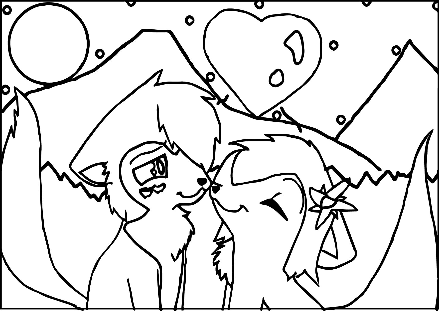 Alpha And Omaga Valentunie Coloring Page