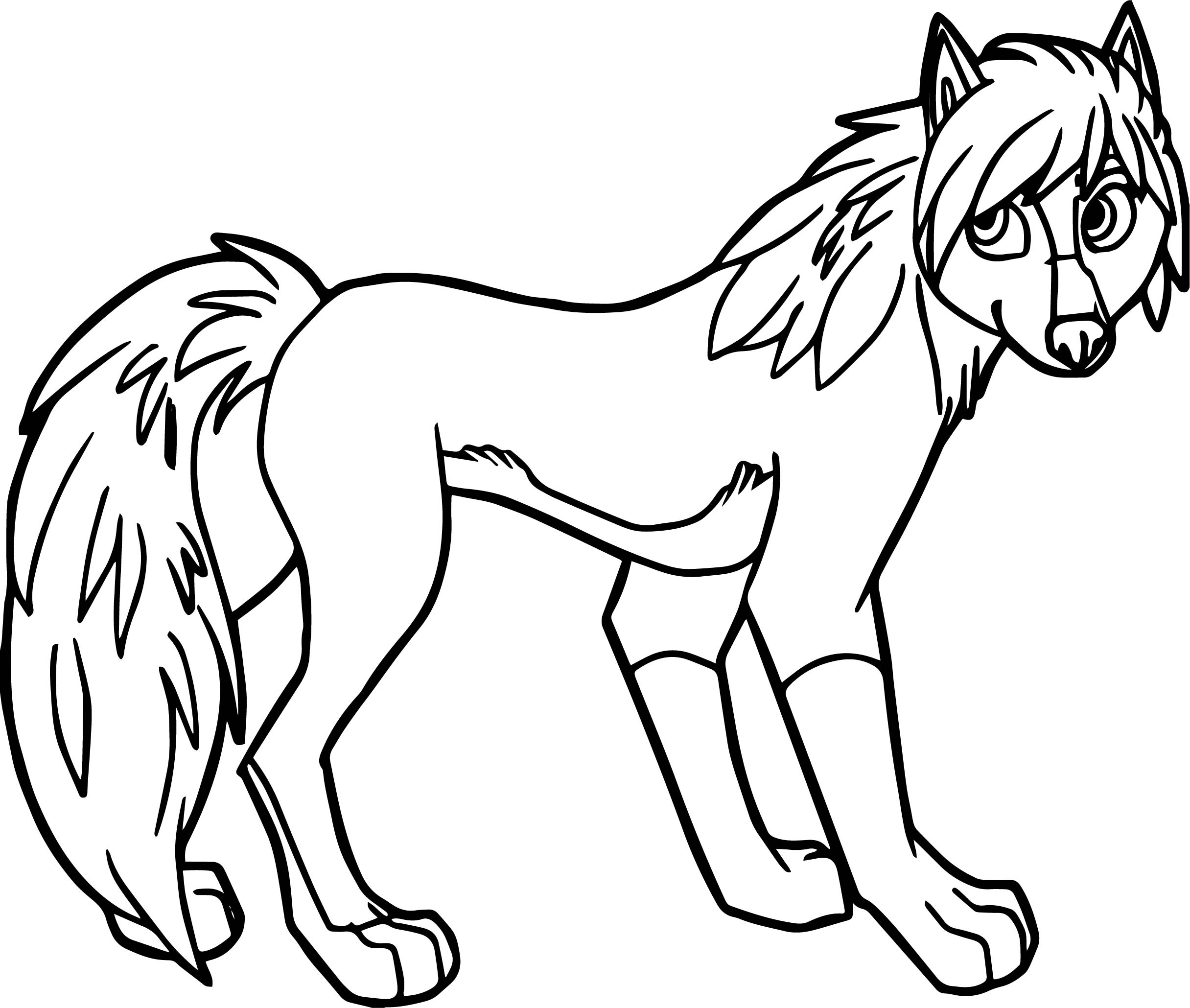 Alpha and omega wolf girl coloring page for Coloring page of a wolf