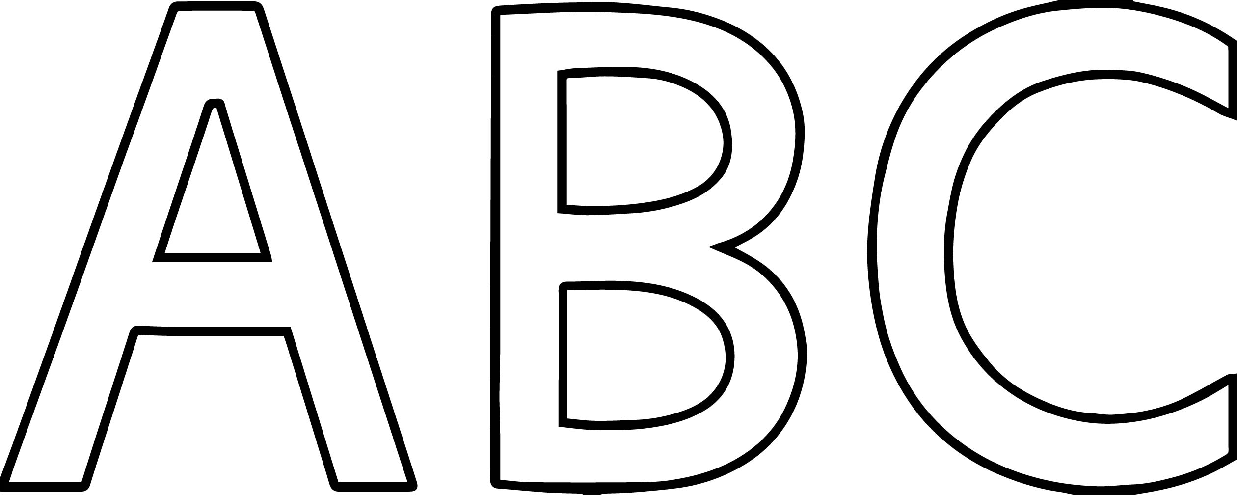 Alphabet Big Abc Coloring Page