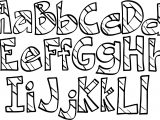Alphabet New Rainbow Letters Coloring Page