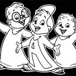 Alvin And Chipmunks Black Background Coloring Page