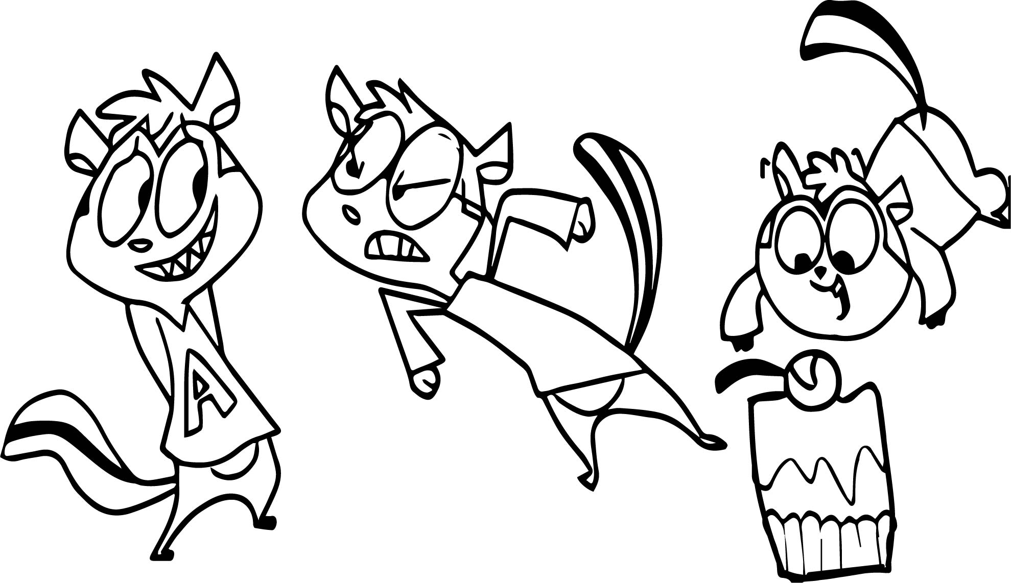 Alvin And Chipmunks Cupcake Coloring Page