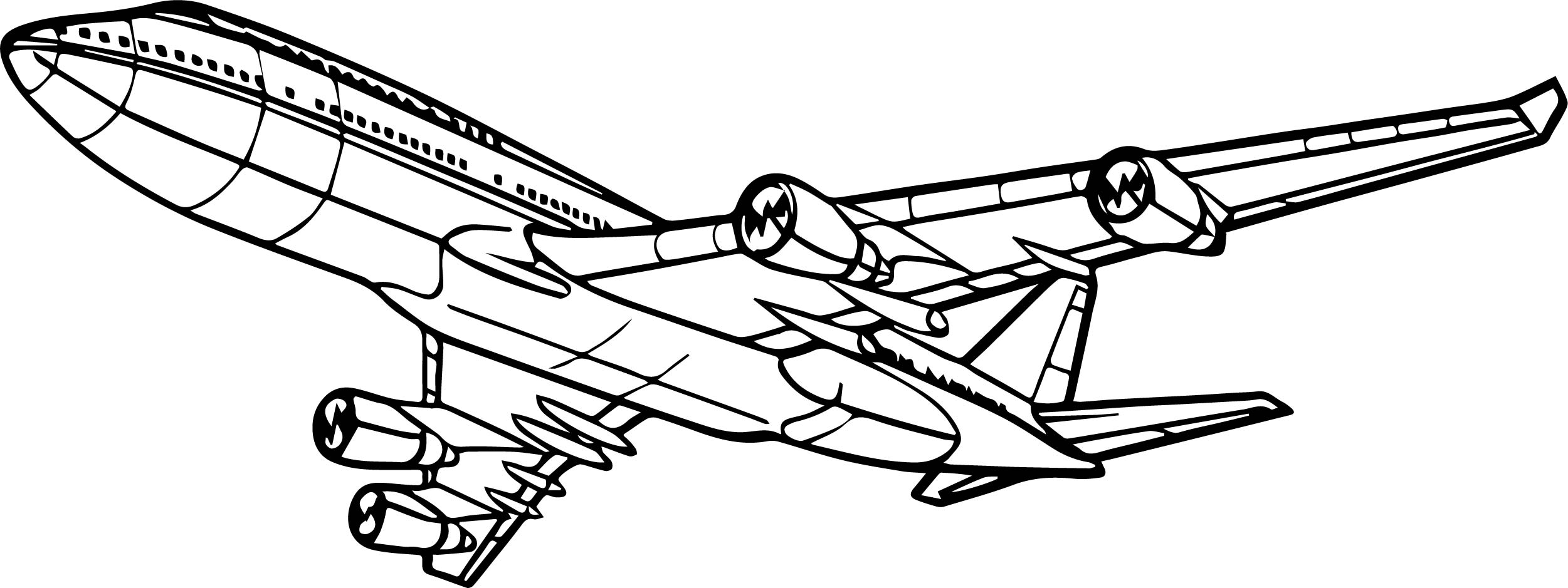 amazing airplane coloring page wecoloringpage