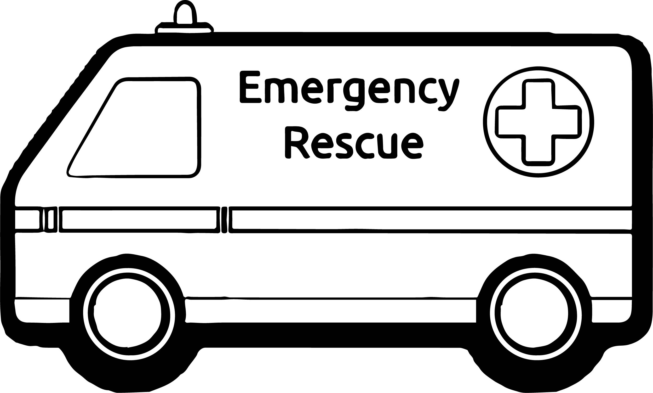 Coloring Pages Mini Ambulance Coloring Page Wecoloringpage